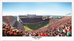 "Virginia Tech Hokies ""Classic Comeback"" (10/8/2011) Gameday Panoramic Poster - SPI"