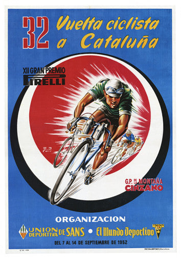 Vuelta Ciclista a Cataluna 1952 Vintage Poster Reprint - The Horton Collection