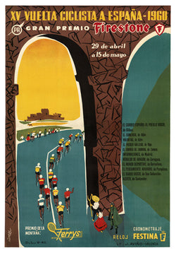 Vuelta Ciclista a Espana 1960 Vintage Poster Reprint - The Horton Collection