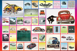 Volkswagen Beetle Historic Iconography Collage Poster - Eurographics Inc.