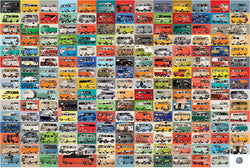 Volkswagen 194 Groovy Buses Vans Cars Autophile Collage Poster - Eurographics Inc.