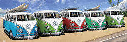 Surfing Caravan (Volkswagen Buses at the California Beach) HUGE Wall-Sized Poster - GB Eye