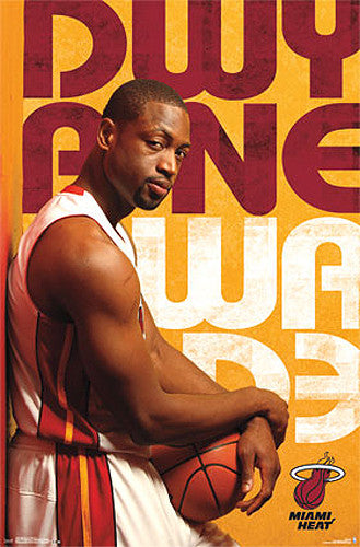 "Dwyane Wade ""Superstar"" Miami Heat NBA Basketball Poster - Costacos 2013"
