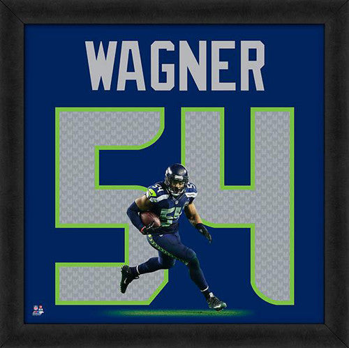 "Bobby Wagner ""Number 54"" Seattle Seahawks FRAMED 20x20 UNIFRAME PRINT - Photofile"