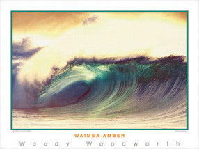 "Surfing ""Waimea Amber"" (Oahu, Hawaii) Poster Print - Creation Captured"