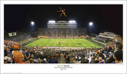 "Wake Forest Football ""Back in Black"" BB&T Field Game Night Premium Poster Print - SPI 2008"
