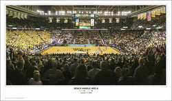 "Wake Forest Basketball ""Deacs Handle Heels"" Panoramic Poster Print - Sport Photos 2009"
