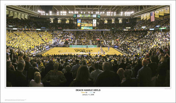 "Wake Forest Basketball ""Deacs Handle Heels"" - Sport Photos 2009"