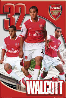 "Theo Walcott ""Triple Action"" Arsenal FC Poster - GB 2006"
