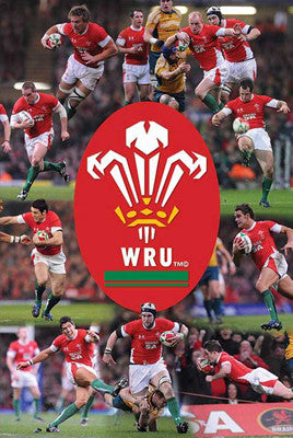 Wales Rugby (Welsh Rugby Union) 2009 Action Poster - Pyramid (UK)
