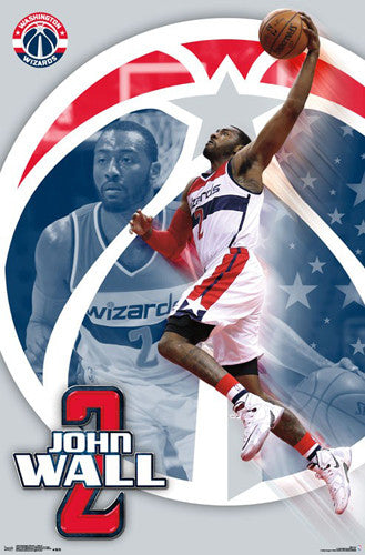 "John Wall ""DC Dunk"" Washington Wizards NBA Action Wall Poster - Trends International 2016"