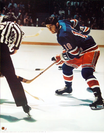 "Walt Tkaczuk ""Action"" New York Rangers NHL Action Poster - Sports Posters Inc. 1973"