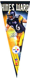 Hines Ward Pittsburgh Steelers Limited-Edition Signature Series Premium Pennant - Wincraft Inc.