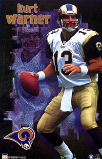 "Kurt Warner ""Superstar"" St. Louis Rams Poster - Starline 2000"