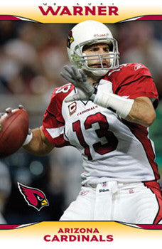 "Kurt Warner ""In Flight"" Arizona Cardinals NFL Action Poster - Costacos 2009"