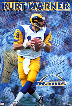 Kurt Warner 'QB' St. Louis Rams Poster - Starline 1999