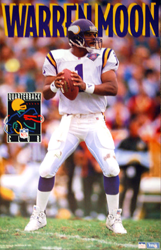 "Warren Moon ""QB Club"" Minnesota Vikings NFL Action Poster - Starline 1994"
