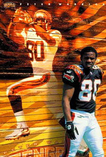 "Peter Warrick ""Bengal Style"" Cincinnati Bengals NFL Action Wall Poster - Costacos Sports 2000"