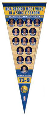 Golden State Warriors 73 Win Season Commemorative Premium Felt Pennant - Wincraft