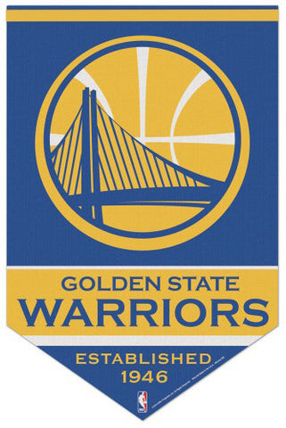 "Golden State Warriors ""Est. 1946"" Premium Felt NBA Team BANNER - Wincraft 2016"