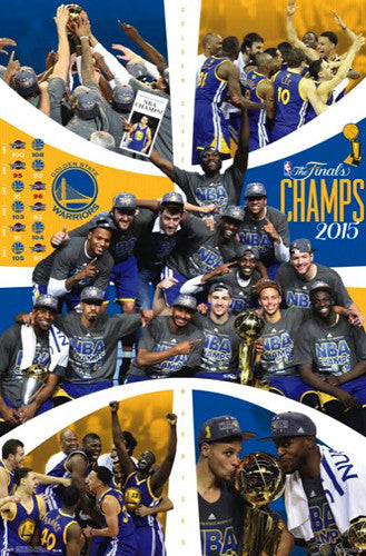 Golden State Warriors 2015 NBA Champions CELEBRATION Commemorative Poster - Trends