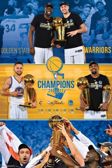 "Golden State Warriors ""Celebration"" 2017 NBA Champions Commemorative Poster - Trends International"