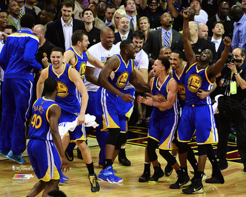 "Golden State Warriors ""Final Buzzer"" 2015 NBA Champions Premium Poster Print - Photofile 16x20"
