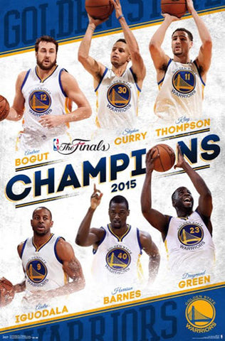 Golden State Warriors 2015 NBA Champions 6-Player Commemorative Poster - Trends