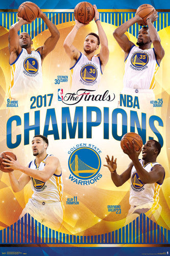 Golden State Warriors 2017 NBA Champions Commemorative Poster - Trends International