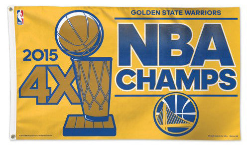 Golden State Warriors 2015 NBA Champions Deluxe 3'x5' HUGE Banner Flag - Wincraft