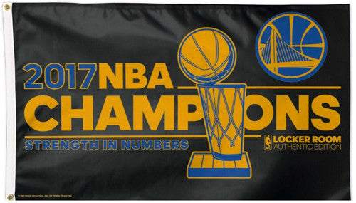 Golden State Warriors 2017 NBA Champions DELUXE 3'x5' Team Flag - Wincraft