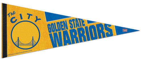 "Golden State Warriors ""The City"" Retro 1969-71 Style Premium Felt Pennant - Wincraft Inc."