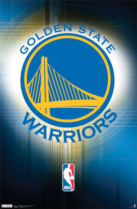 Golden State Warriors Official NBA Team Logo Poster - Costacos Sports