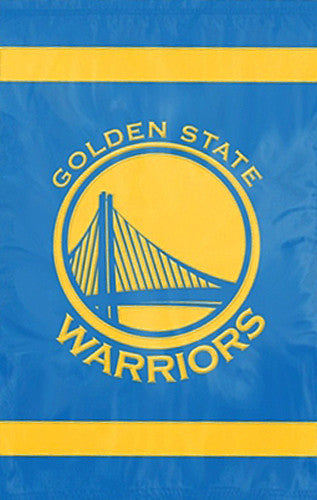 Golden State Warriors Official NBA Premium Applique Team Banner Flag - Party Animal