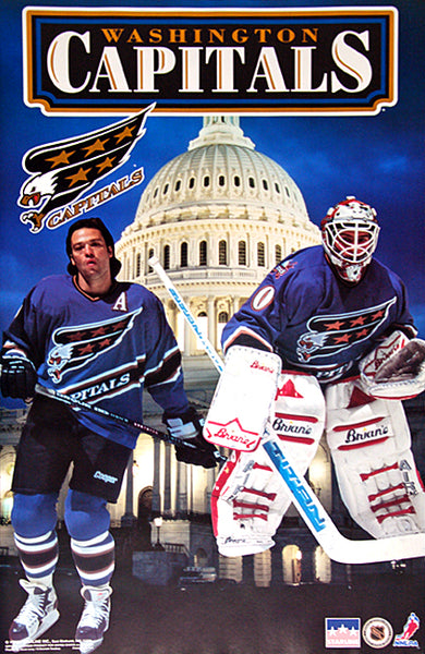 "Washington Capitals ""Capital Dome"" Olaf Kolzig and Joe Juneau Poster - Starline 1995"
