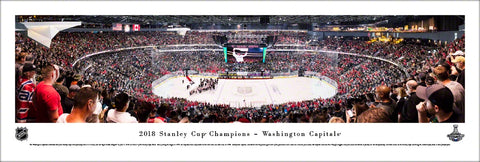 Washington Capitals 2018 Stanley Cup Champions (Game 5) Panoramic Poster Print - Blakeway