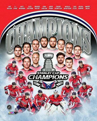 Washington Capitals 2018 Stanley Cup Champions 12-Player Commemorative Premium Poster - Photofile Inc.