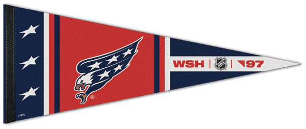 "Washington Nationals ""WSH '97"" NHL Hockey Reverse-Retro-Style Premium Felt Collector's Pennant - Wincraft"