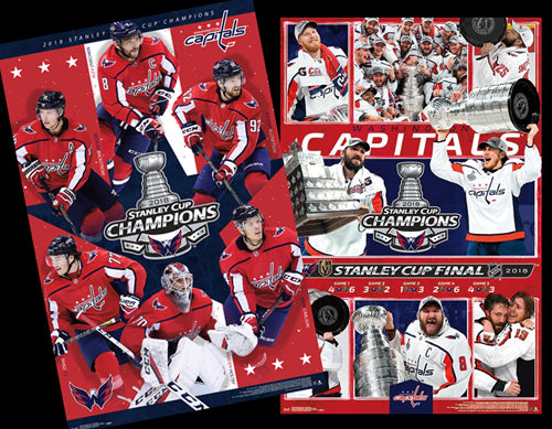 Washington Capitals 2018 Stanley Cup Champions Commemorative Poster Combo Set (2) - Trends Int'l.