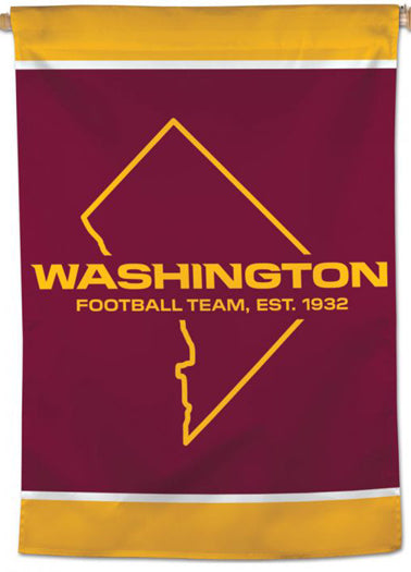 Washington Football Team Official NFL Football Team Logo 28x40 Wall BANNER - Wincraft Inc.