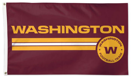 "Washington Football Team Official NFL Football 3'x5' DELUXE-EDITION Flag (""W-Style"") - Wincraft Inc."