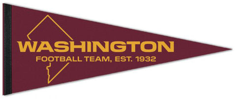 "Washington Football Team ""DC-Style"" 2020 Official NFL Football Premium Felt Collector's Pennant - Wincraft"