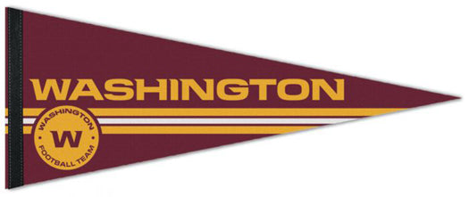 "Washington Football Team ""W-Style"" 2020 Official NFL Football Premium Felt Collector's Pennant - Wincraft"