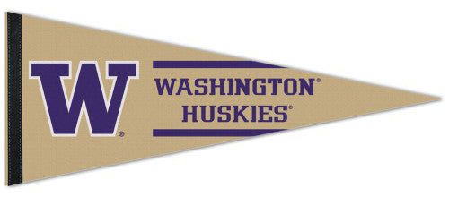 Washington Huskies NCAA Team Logo Style Premium Felt Collector's Pennant - Wincraft Inc.