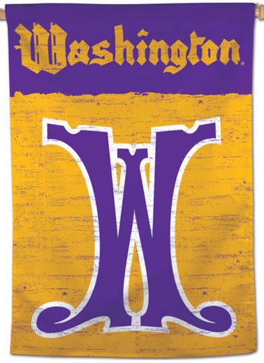 "Washington Huskies ""W-Classic"" NCAA College Vault Series 1960s-Style Official NCAA Premium 28x40 Wall Banner - Wincraft Inc."
