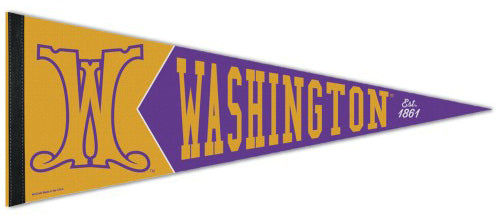 "Washington Huskies ""Est. 1861"" Retro Vintage Logo Style Premium Felt Collector's Pennant - Wincraft Inc."