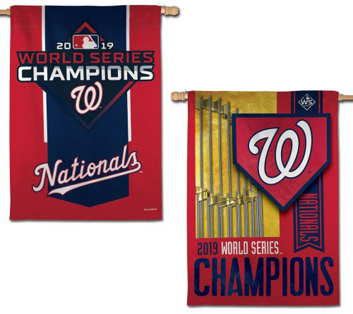 Washington Nationals 2019 World Series Champions 2-Sided Commemorative Wall Banner - Wincraft