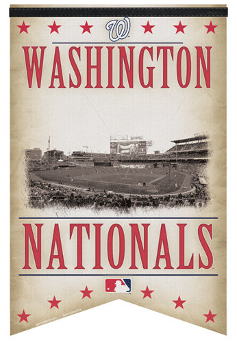 "Washington Nationals ""Classic Gameday"" Premium Felt Banner - WIncraft Inc."