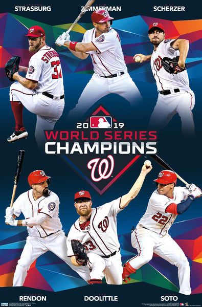 Washington Nationals 2019 World Series CHAMPIONS 6-Player Commemorative Poster - Trends International