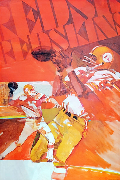 Washington Redskins NFL Collectors Series Vintage Original Theme Art Poster (1971)